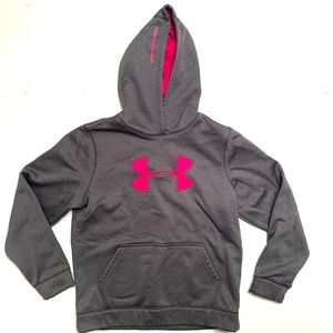 Under Armour Grey and Pink Cold Gear Hoodie